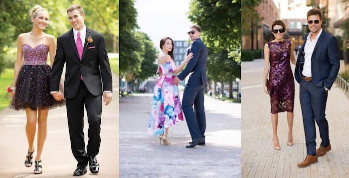 damenmode: kleider für hochzeit und herrenmode anzug blau grau oder beige schöne kombinationen