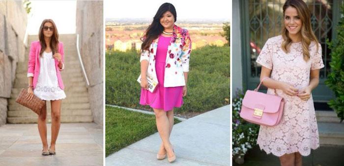 pinke kleider für hochzeit kurzes kleid tragen passend für eine hochzeit im sommer ideen für die damen