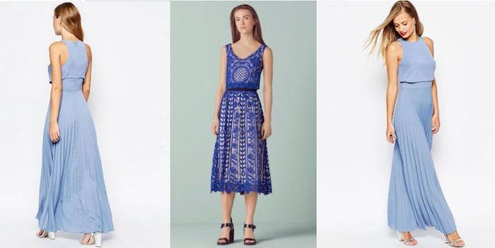 blaue kleider für hochzeitsgäste damen als gäste auf die hochzeit schöne designs blaue kleider tragen