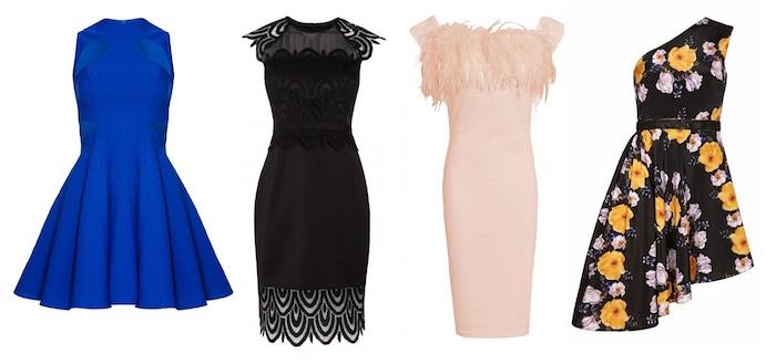 abendkleider für hochzeit blau schwarz beige bunt kurze kleider zu offiziellen anlässen
