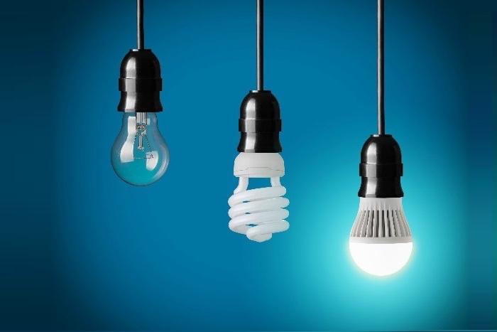 led beleuchtung in jedem raum und für alle bereiche des lebens drei lampen glühbirne energiesparende lampe