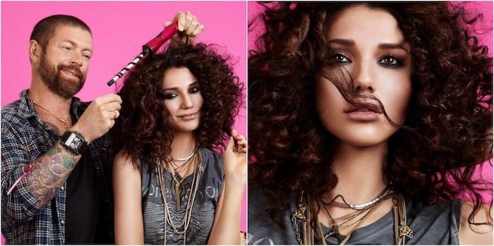 lockenstab für kurze haare, schöne frisuren stylen lassen, model, fotomodel, fotosession