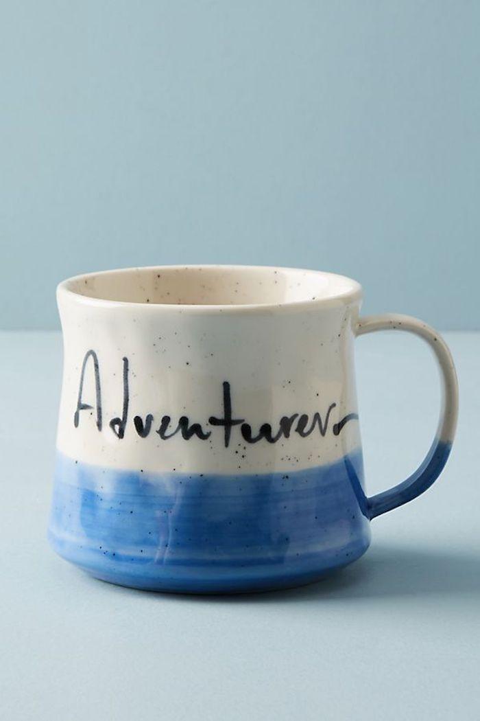 Tasse aus Keramik für Abenteurer, mit schwarzem Permanentmarker beschriften