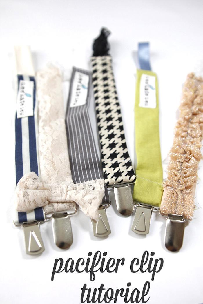 schnullerketten zubehör, selbstgemachte schnullerketten aus verschiedenen materialien