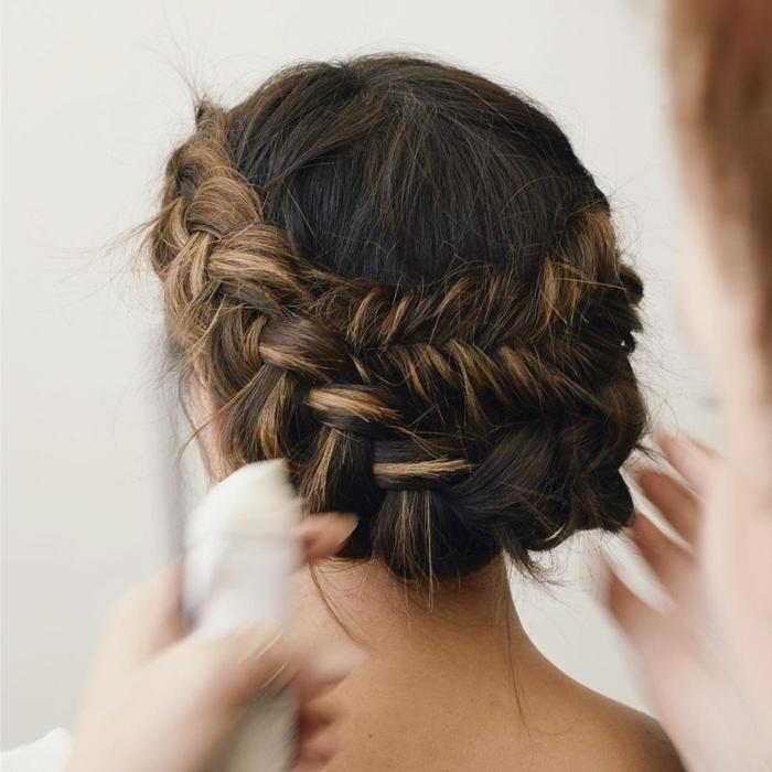 Flecht Frisuren Braune Haare Mittellange Haare