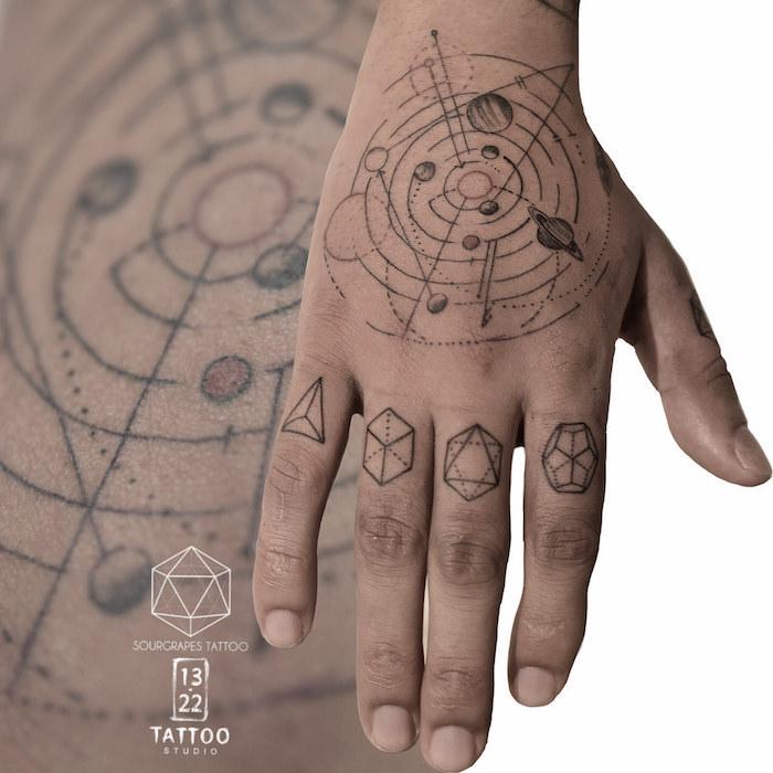 sternzeichen bilder ideen den kosmos auf der hand gestalten und zeichnen schöne idee