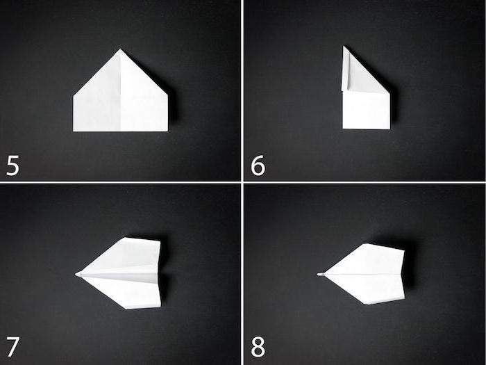 eine bastelidee mit papier, einen kleinen weißen papierflieger selber basteln, eine diy schritt für schritt papierflieger anleitung papierflieger, papierflieger gleiter