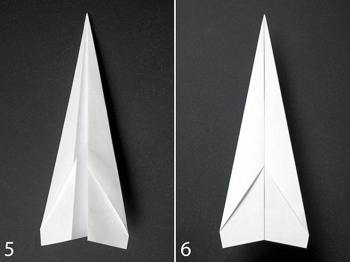 bilder mit zwei großen weißen papierfliegern, einen weißen papierflieger basteln, bastelideen mit papier