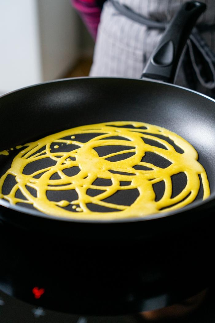 gesundes frühstück zum abenhmen, pfannkuchen selber machen, einfache rezepte