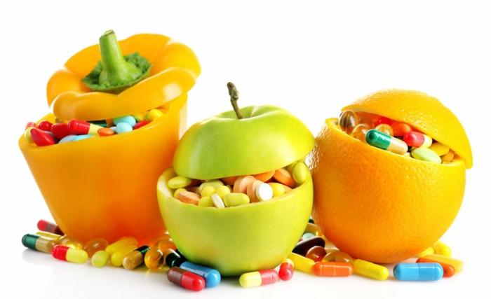 ernährungsplan zum abnehmen, viele vitamine und mineralien mit dem essen einnehmen anstelle von tabletten apfel orange