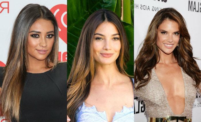 strähnchen färben ideen drei bilder von berühmten damen, schöne looks, roter teppich