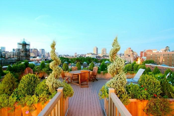 terrasse gestalten wie einen garten paradiesische gestaltung, weg, eingang, busche, schöne gestaltung