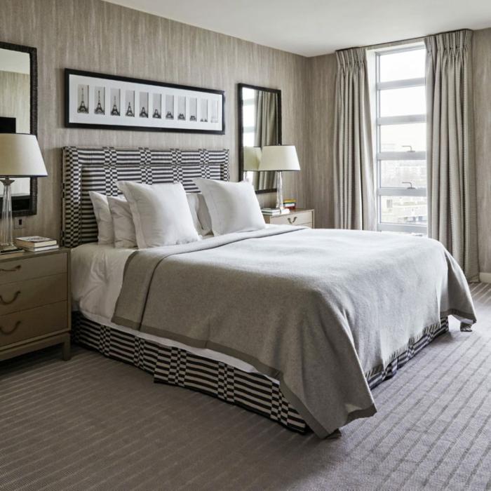 graue Wände und grauer Teppich, graue Vorhänge, welche Farbe passt zu Grau
