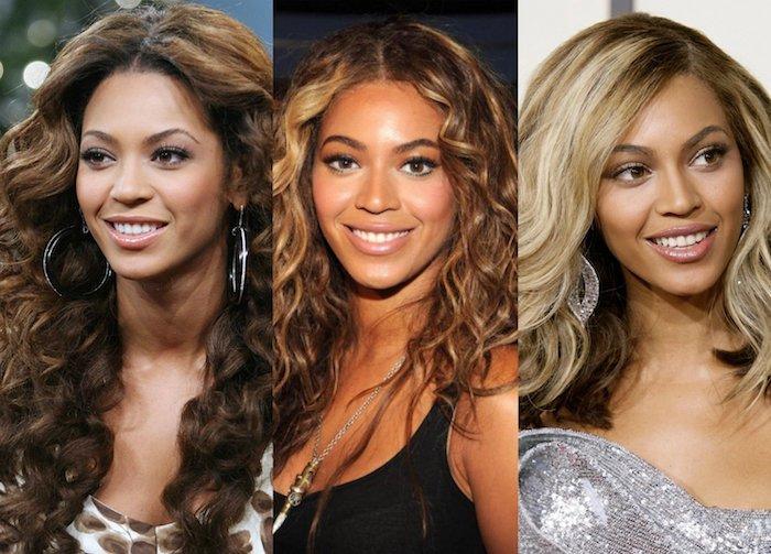 blond färben, beyonce, haare aufhellen, frisuren mit locken, haarfarbe wechseln, damenfrisuren