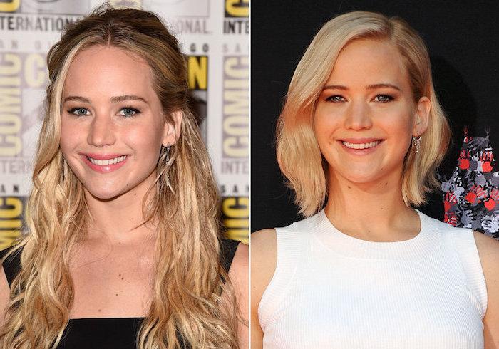 blond färben, alltagsfrisuren, lange lockige haare, schulterlang, frisuren mit locken, frauen
