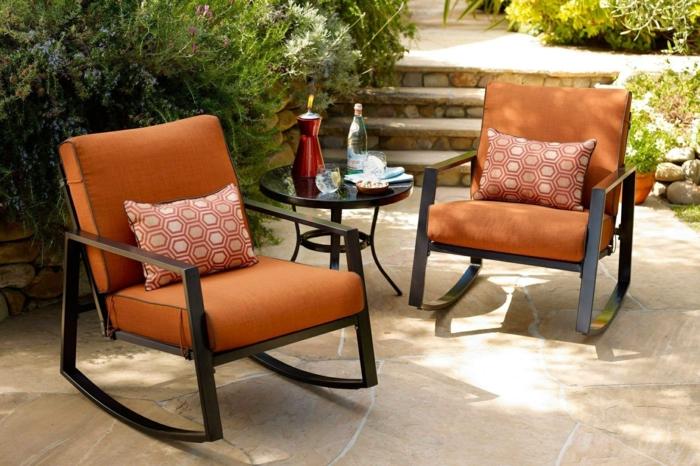 finden sie paasende möbel und terrassen deko, stühle, wiegestühle, oranges design, kissen, kaffeetisch