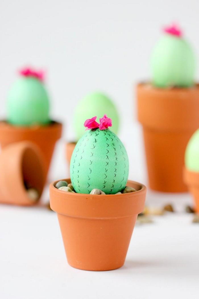 eier färben eier färben natur ostereier muster ostereier bemalen kaktus muster ostereier in blumentopf grüne eier kaktus