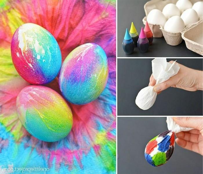 eier färben ostereier natürlich färben ostereier bemalen mit handtücher eierfarbe tropfen anleitung schritt für schritt