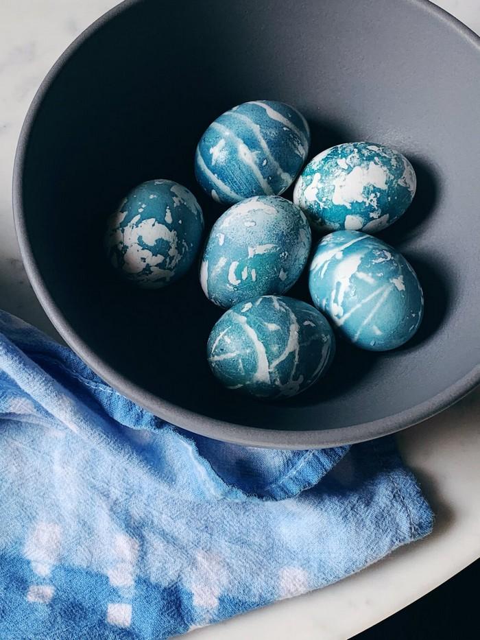 eier färben rote beete eierfarben selber machen shibori blau ostereier färben