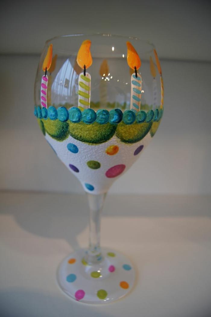 mit Motiven wie Torte Gläser verzieren, perfekt zum Geburtstag eines Kindes
