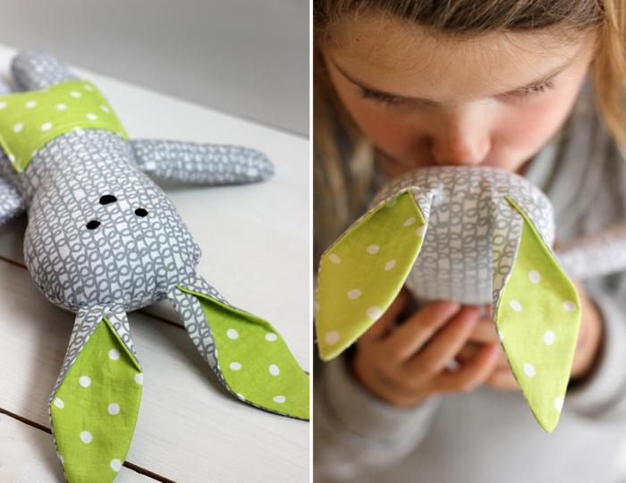 mit Nähen Ostergeschenke selber machen, um ein kleines Mädchen zu erfreuen