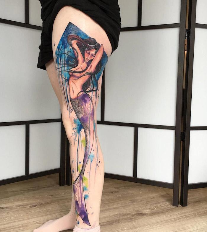 Tattoos frauen bein