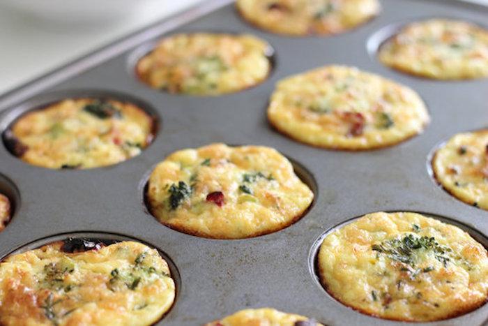 frühstück zum abnehmen, muffins selber machen, cupcakes aus eier und brokkoli, glutenfrei