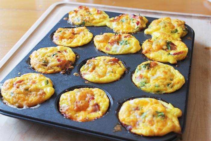 frühstücksideen gesund, muffins selber machen, cupcakes ohne gluten, rezepte mit eiern, muffinform