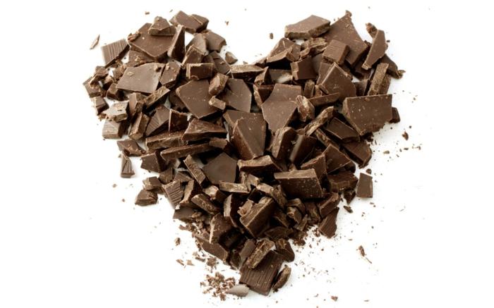 müsliriegel selber machen ohne zucker, schokolade ohne zucker, schokolade zum topping nutzen, schoko stücke in form von herz