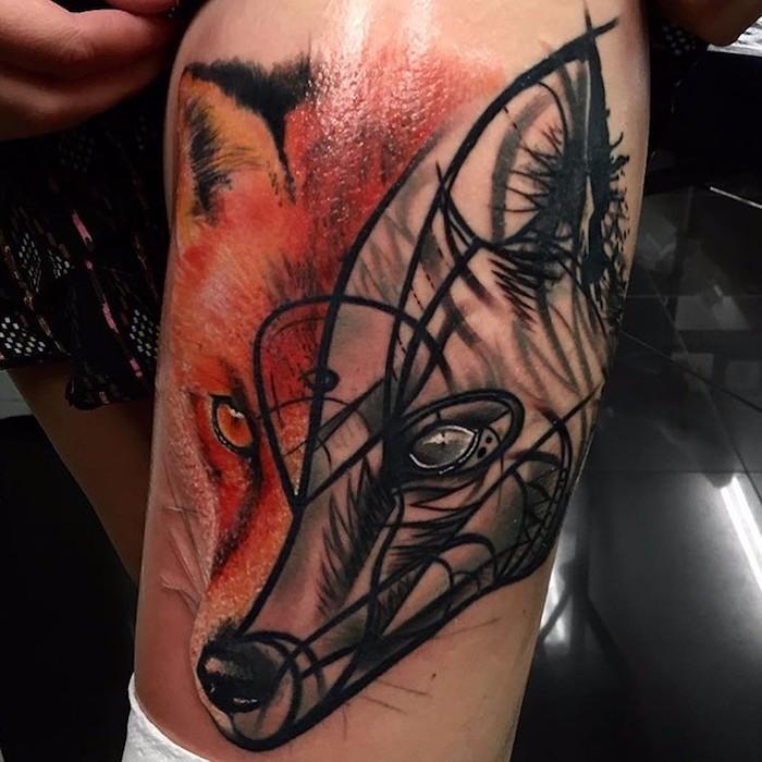 Bein tattoo frauen Tattoo Bein