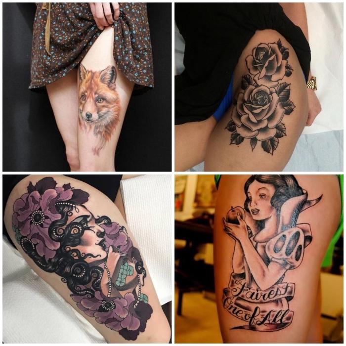 Bein frauen tattoos Top 100