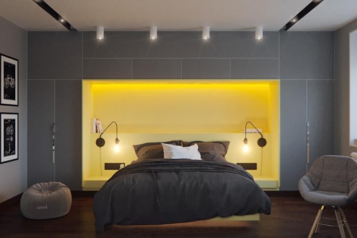 vier Lampen, Deckenleuchte und Stehlampe, Led Beleuchtung, Zimmer einrichten