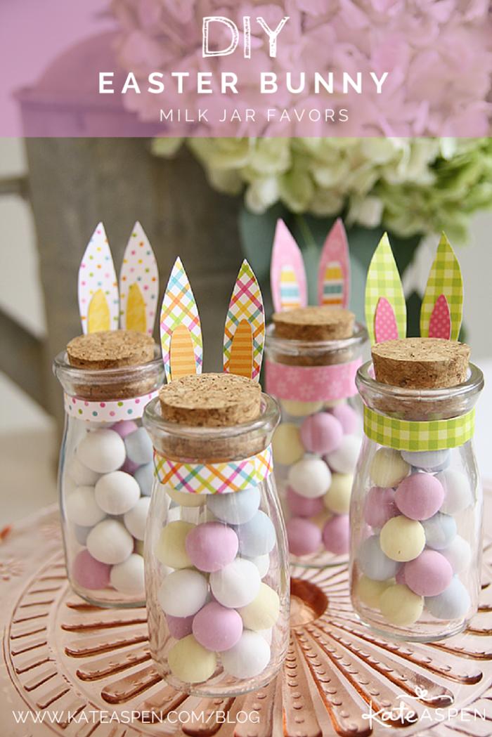 glasflaschen mit verschlussdeckel aus korken, geschenke selber basteln, kleine eier