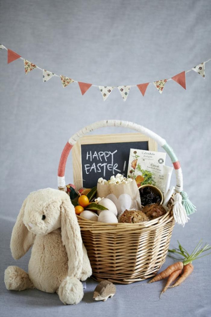 gesunde kleine Ostergeschenke, Osterhase aus Bio-wolle, Karotten aus dem Garten