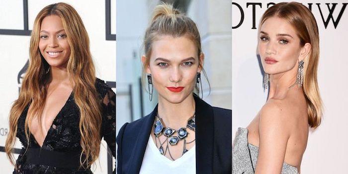 haare selber blondieren, langhaarfrisur, beyonce, frisur im retro stil, große hrringe, trendige haarschnitte