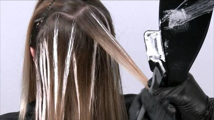 balayage kurze haare, selber machen, highlights selber färben in den haaren, ideen