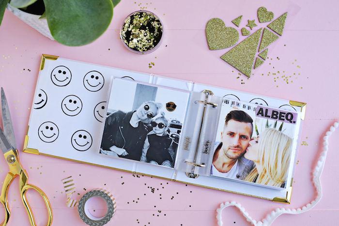 Hochzeitsgeschenke selber machen, Fotoalbum selbst gestalten und verzieren