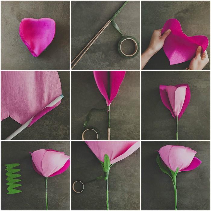 1001 ideen f r hochzeitsgeschenke selber machen - Papierblumen selber machen ...