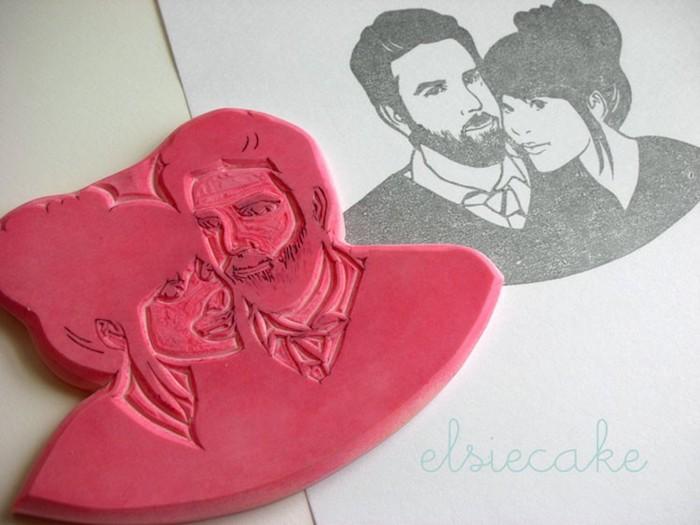 Kreative Idee für Hochzeitsgeschenk aus Fimo, romantisches DIY Geschenk zum Nachmachen