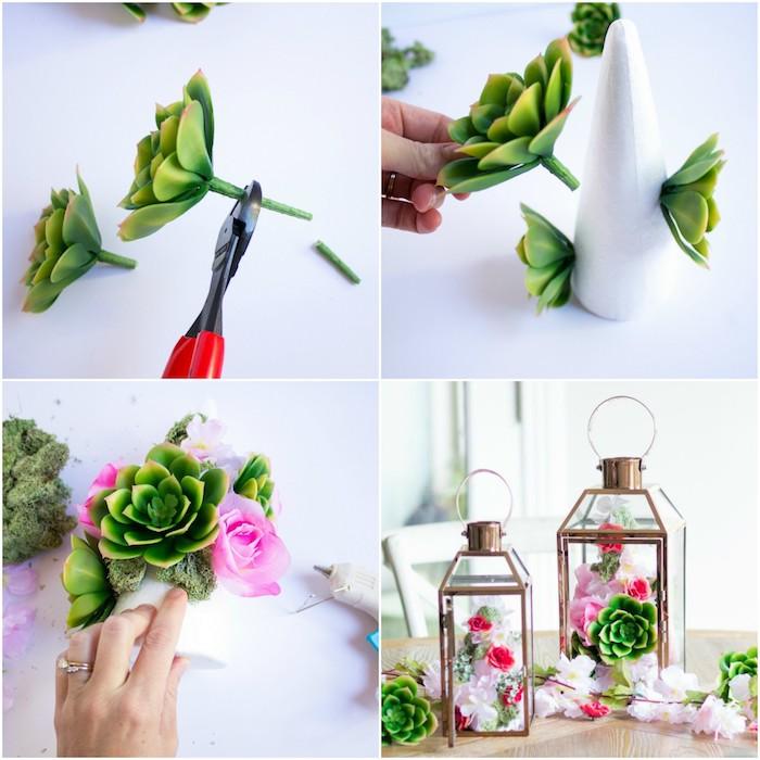 Tolle Idee für Hochzeitsgeschenk, Laterne mit echten Blüten, Geschenk für die Braut