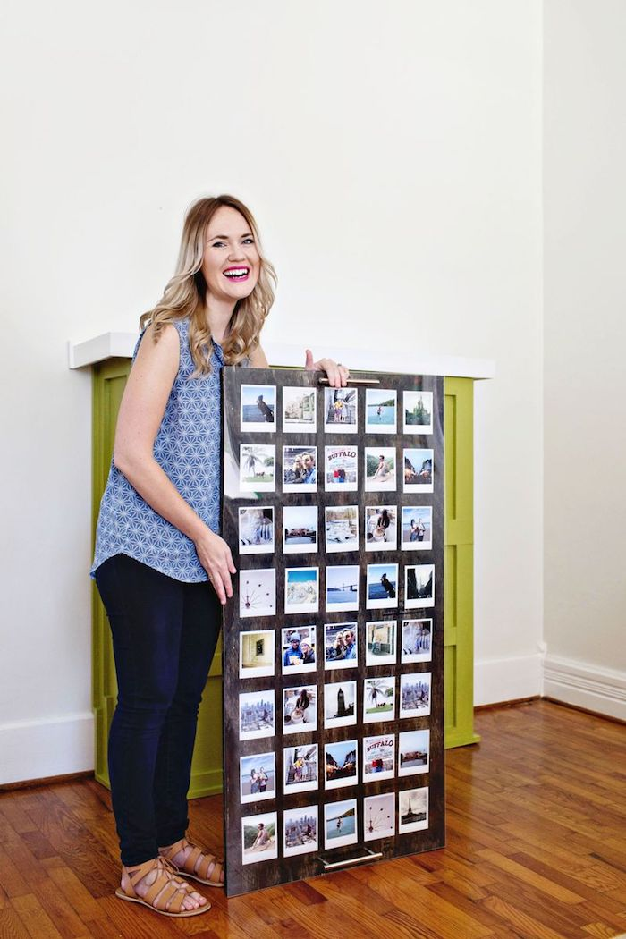 Fotocollage selber machen, DIY Hochzeitsgeschenk, lustige Fotos sammeln