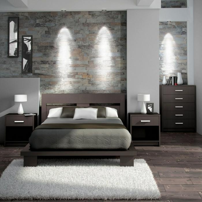 Braune Wandfarbe Schlafzimmer: 1001 + Ideen Für Schlafzimmer Grau Gestalten Zum Entlehnen