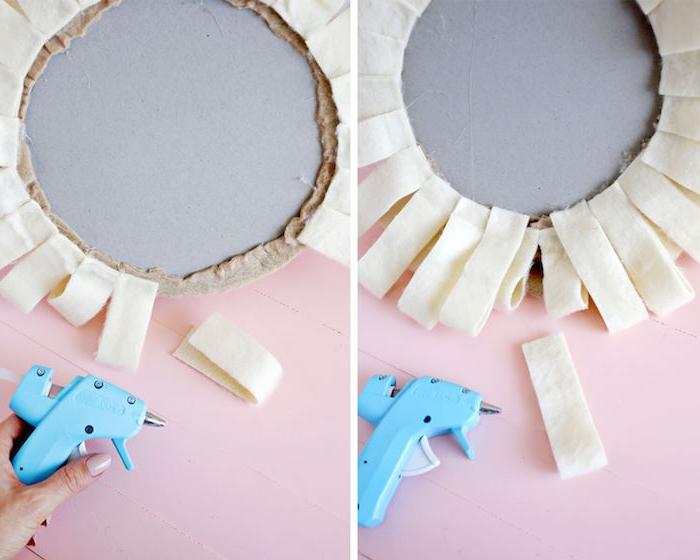 Deko für Babyzimmer selber machen, Löwenkopf selber nähen, DIY Wanddeko Idee
