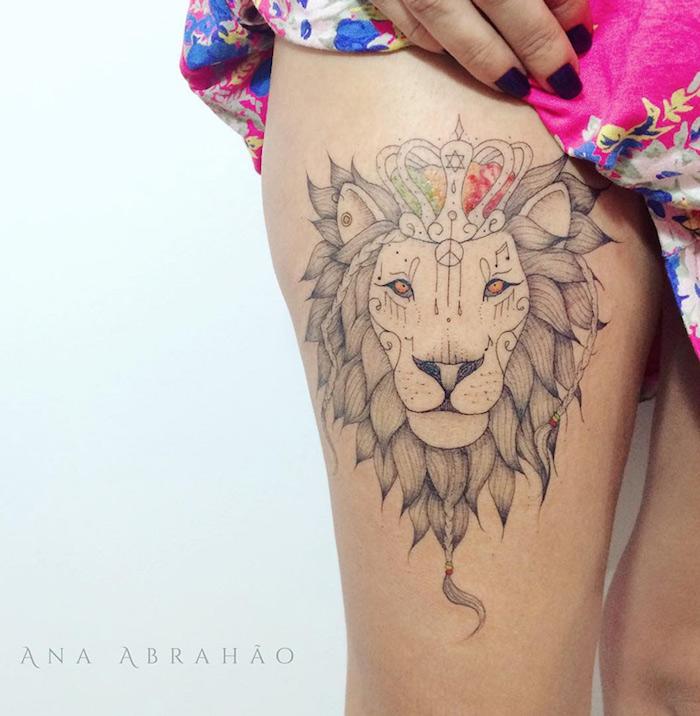 1001 Ideen Und Inspirationen Fur Ein Oberschenkel Tattoo