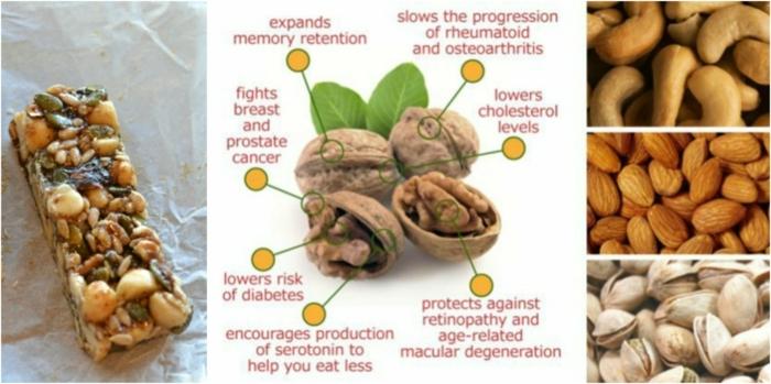 fitness riegel selber machen ideen für riegel aus rohen nüssen und honig, welche nüssen sind zu empfehlen