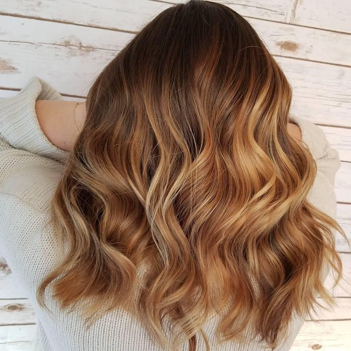1001 ideen f r balayage braun haarstylings zum erstaunen - Balayage braun blond ...