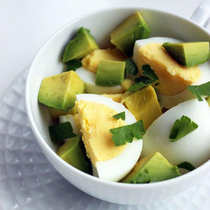 schnelles frühstück mit eiern und avocado, gesunde rezepte, gewicht verlieren, abnehmen