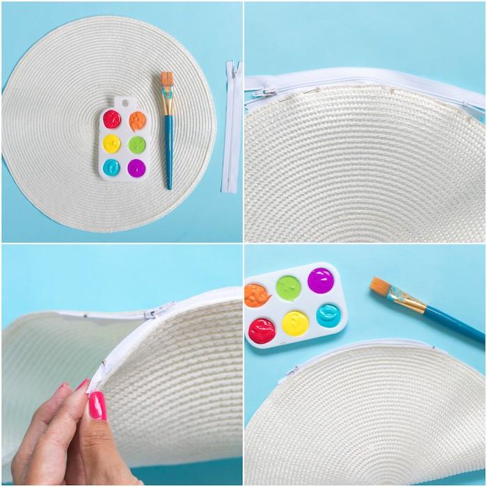 Regenbogen Clutch selber nähen, DIY Idee für Geburtstagsgeschenk für Freundin