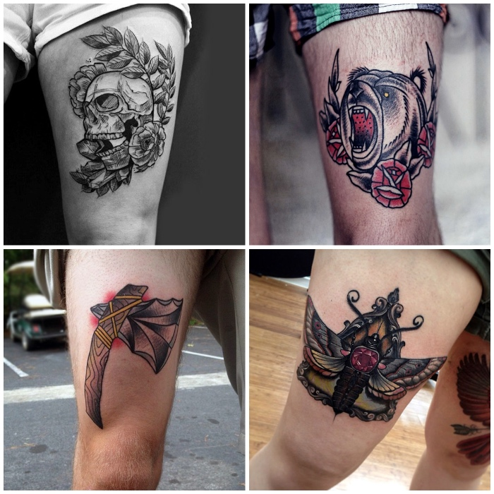 Frauen bein tattoos Ideen Tattoos