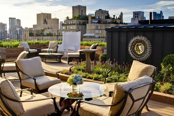 balkon ideen, die terrasse als ein erholungsort gestalten, schöne gartenideen